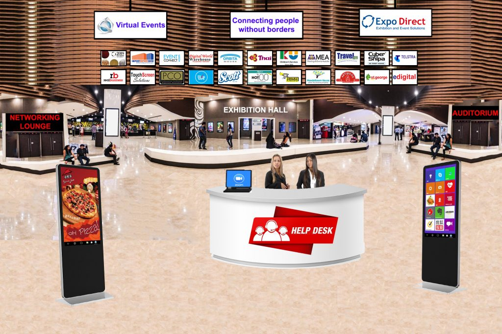Virtual Exhibition Hall Reception Option 2 (With logos)
